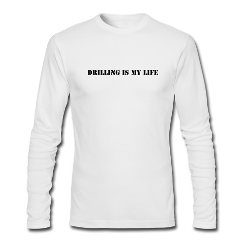 Drilling - Men's Long Sleeve T-Shirt by Next Level