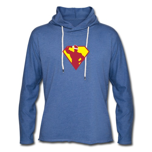Xmas Super FIT Man - Unisex Lightweight Terry Hoodie