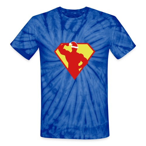 Xmas Super FIT Hippy Man - Unisex Tie Dye T-Shirt