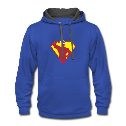 Xmas Super FIT Man - Contrast Hoodie