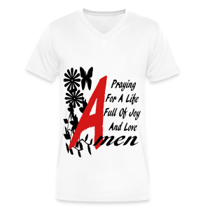 praying for a life... - Men's V-Neck T-Shirt by Canvas