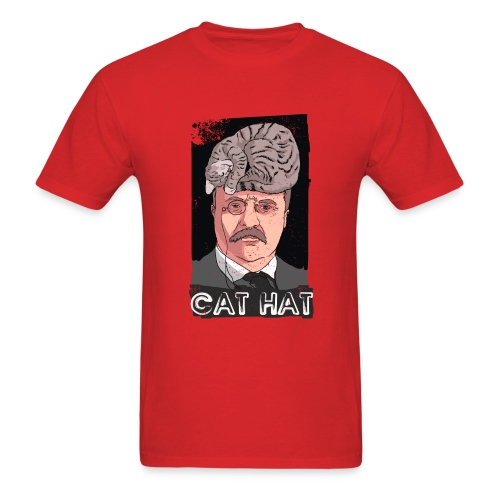 Cat Hat - Men's T-Shirt