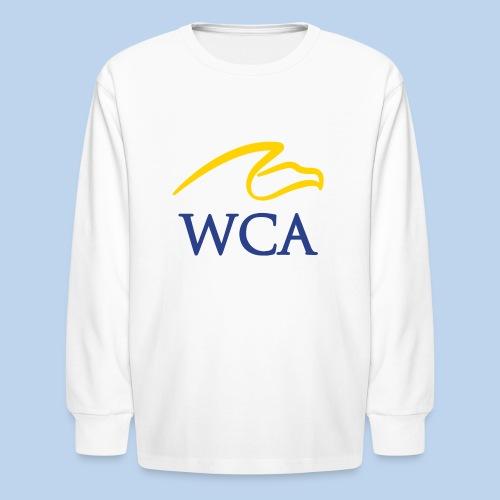 Youth White LS Tee - Kids' Long Sleeve T-Shirt