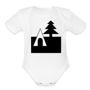 Camping - Short Sleeve Baby Bodysuit