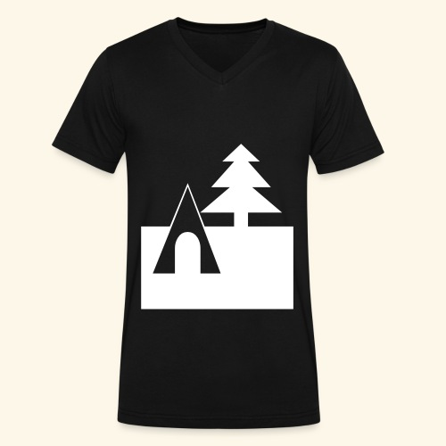 Camping - Men's V-Neck T-Shirt by Canvas