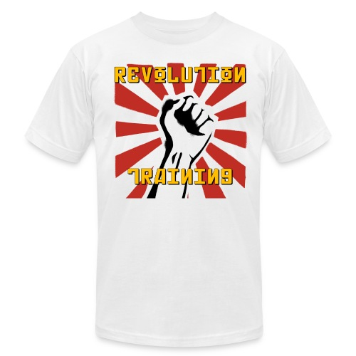 Revolution Training White Shirt - Men's Fine Jersey T-Shirt