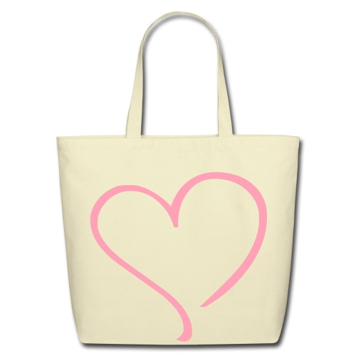 heart to heart tote bag - Eco-Friendly Cotton Tote