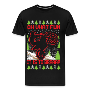 Ugly Christmas Dirt Bike - Men's Premium T-Shirt
