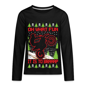 Ugly Christmas Dirt Bike - Kids' Premium Long Sleeve T-Shirt