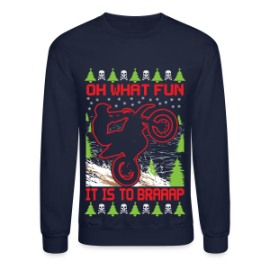 Ugly Christmas Dirt Bike - Crewneck Sweatshirt