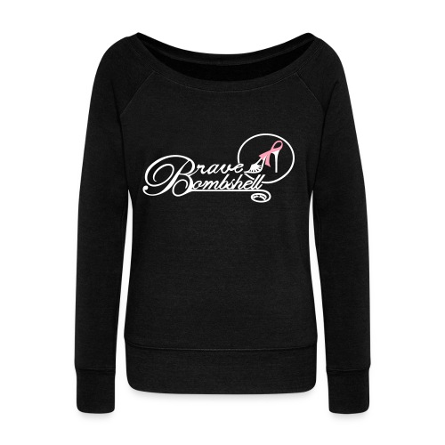 Brave Bombshell for Breast Cancer - Women's Wideneck Sweatshirt