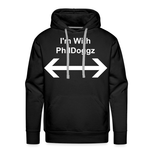 I'm with PhilDoggz Mens Hooodie - Men's Premium Hoodie