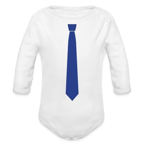 tie  - Organic Long Sleeve Baby Bodysuit