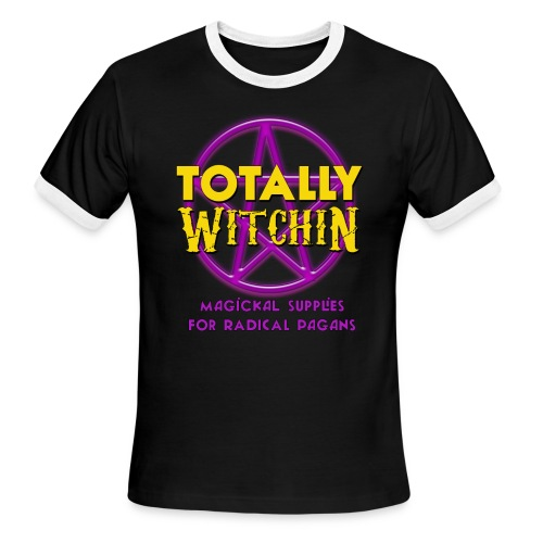 Totally Witchin - Retro Ringer Tee - Men's Ringer T-Shirt