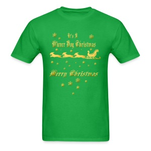 Wiener Dog Christmas - Men's T-Shirt