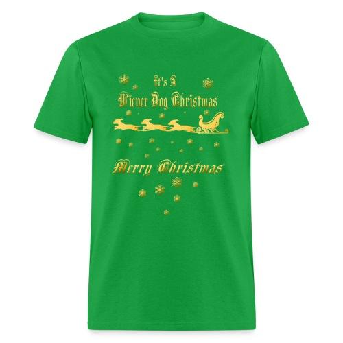 Wiener Dog Christmas - Men's T-Shirt