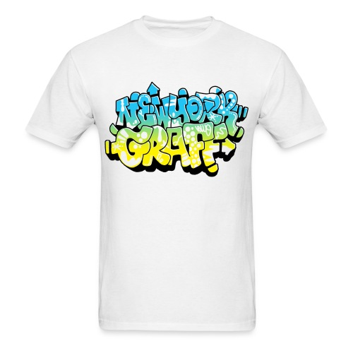 LAWE/SUB53 Design for New York Graffiti Color Logo - Men's T-Shirt