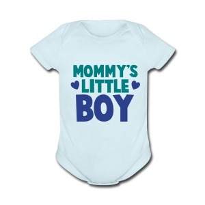 Mommy's Little Boy - Short Sleeve Baby Bodysuit