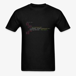 Hello World - JavaScript - Men's T-Shirt