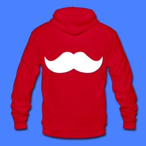 Mustache Zip Hoodies/Jackets - stayflyclothing.com - Unisex Fleece Zip Hoodie by American Apparel