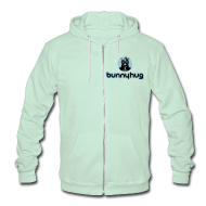 Zip Hoodies & Jackets ~ Unisex Fleece Zip Hoodie by American Apparel ~ Unisex American Apparel Bunnyhug