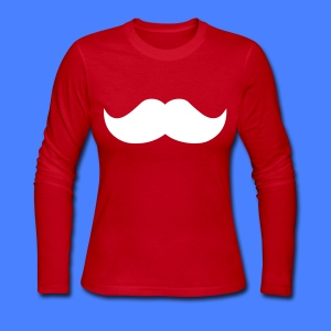 Mustache Long Sleeve Shirts - stayflyclothing.com - Women's Long Sleeve Jersey T-Shirt