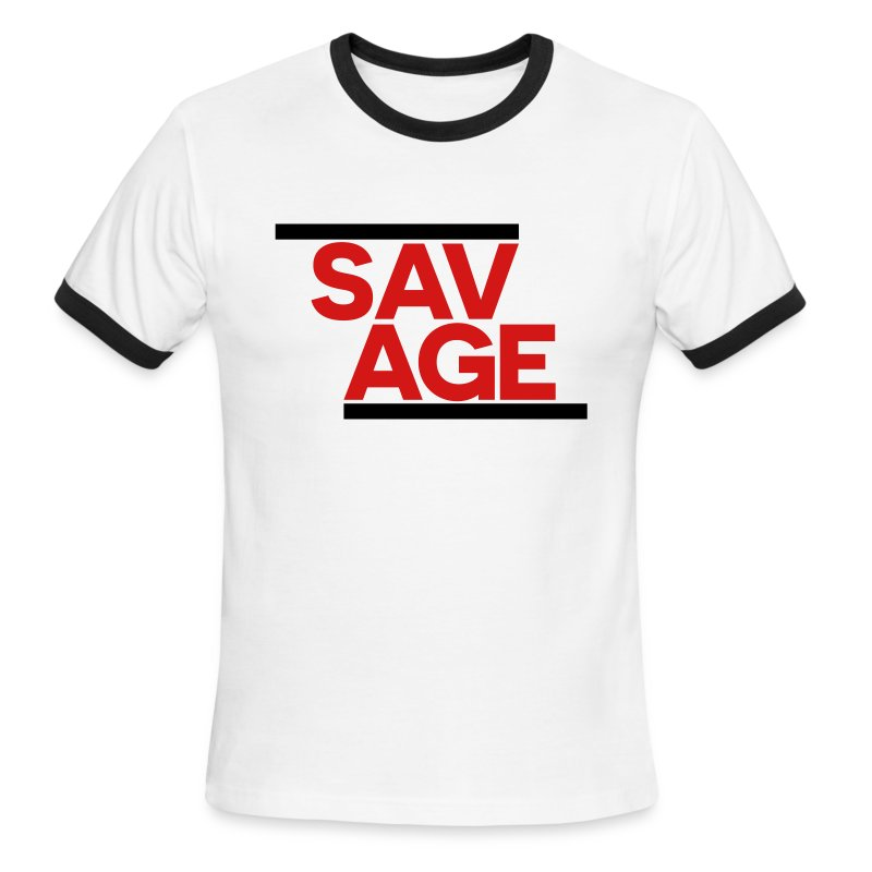 SAVAGE BLACK - Men's Ringer T-Shirt