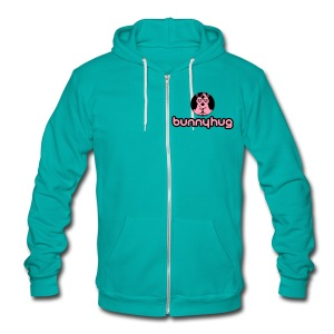 Unisex American Apparel Bunnyhug - Unisex Fleece Zip Hoodie by American Apparel