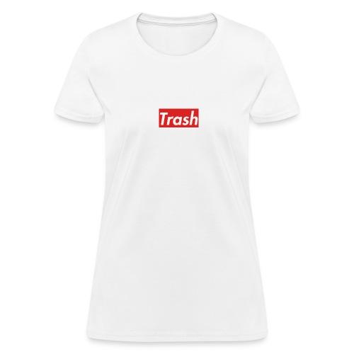 Trash Red Box Logo - Women's T-Shirt