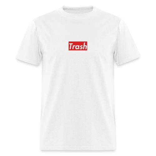 Trash Red Box Logo - Men's T-Shirt