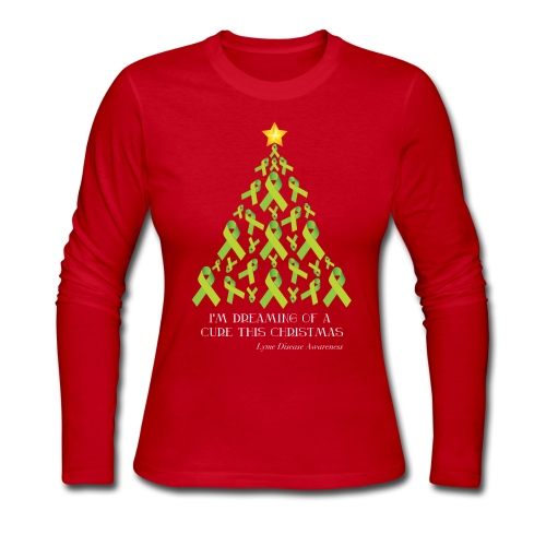 Women's Lyme Free Christmas Long Sleeve - Women's Long Sleeve Jersey T-Shirt