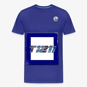 T1211 white background w/ white back text - Men's Premium T-Shirt