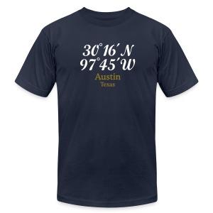 Austin Coordinates T-Shirt - Men's Fine Jersey T-Shirt