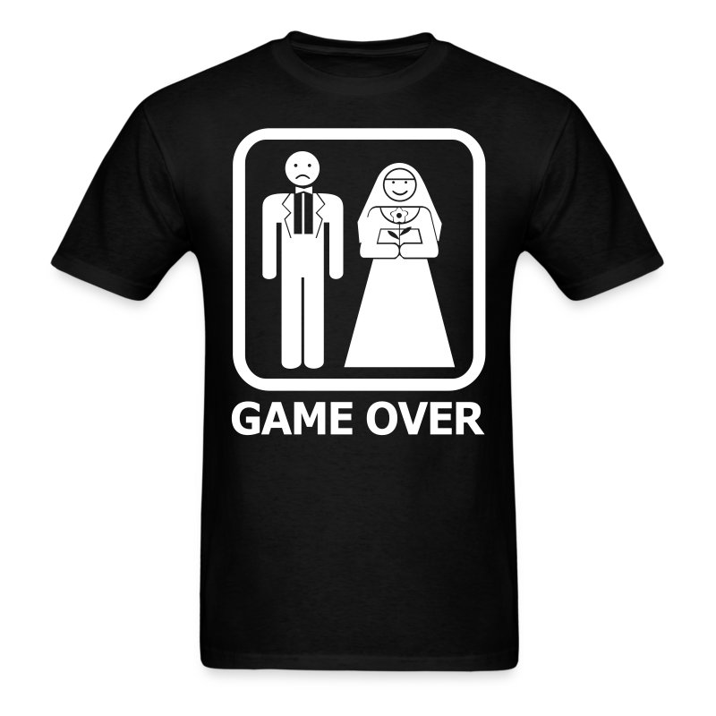 Items similar to Game Over Wedding Bachelor Party Funny ...