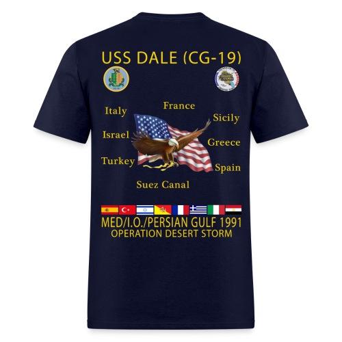 USS DALE CG-19 1991 CRUISE SHIRT - Men's T-Shirt
