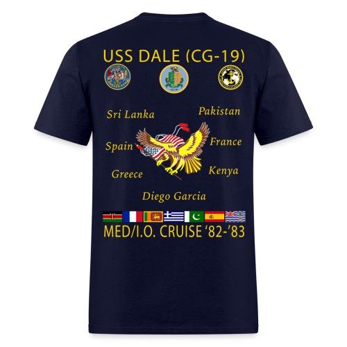 USS DALE CG-19 1982-83 CRUISE SHIRT - Men's T-Shirt