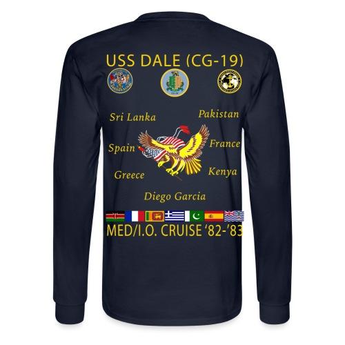USS DALE CG-19 1982-83 CRUISE SHIRT - LONG SLEEVE - Men's Long Sleeve T-Shirt