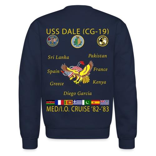 USS DALE CG-19 1982-83 CRUISE SWEATSHIRT - Crewneck Sweatshirt