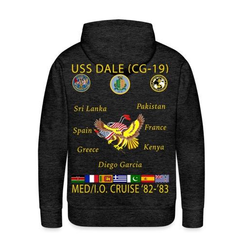 USS DALE CG-19 1982-83 CRUISE HOODIE - Men's Premium Hoodie