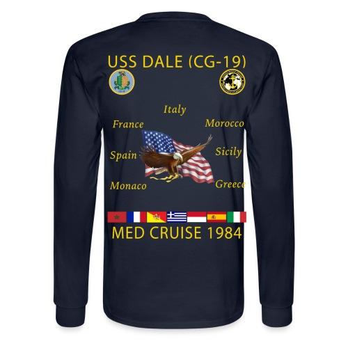 USS DALE CG-19 1984 CRUISE SHIRT - LONG SLEEVE - Men's Long Sleeve T-Shirt