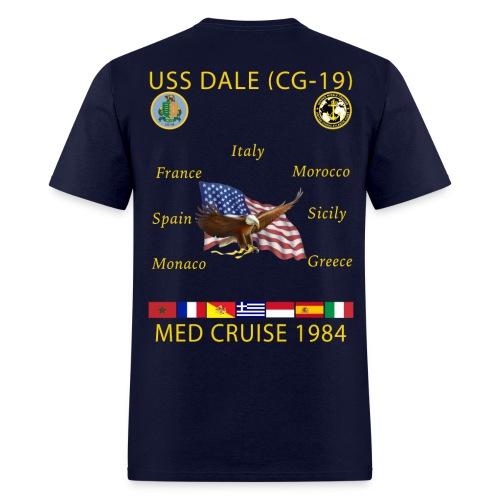 USS DALE CG-19 1984 CRUISE SHIRT - Men's T-Shirt