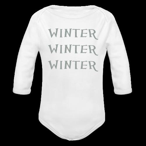 Winter Winter Winter - Organic Long Sleeve Baby Bodysuit