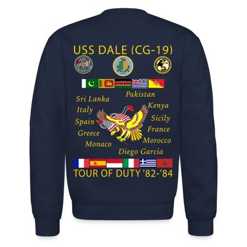 USS DALE CG-19 1982-84 CUSTOM CRUISE SWEATSHIRT - Crewneck Sweatshirt