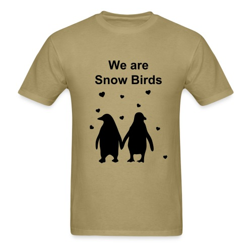 mens snow bird - Men's T-Shirt
