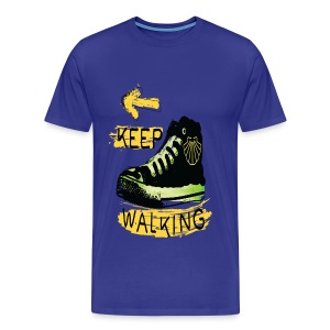 Keep walking Camino quote Men's Premium T-Shirt - Men's Premium T-Shirt