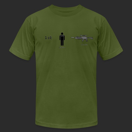 1st Person Shooter Gamer Tee American Apparel  - Men's Fine Jersey T-Shirt