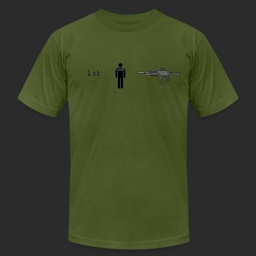 1st Person Shooter Gamer Tee American Apparel  - Men's  Jersey T-Shirt