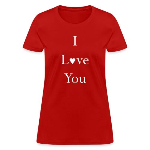 Woman's I Love you Light Ink Tee - Women's T-Shirt