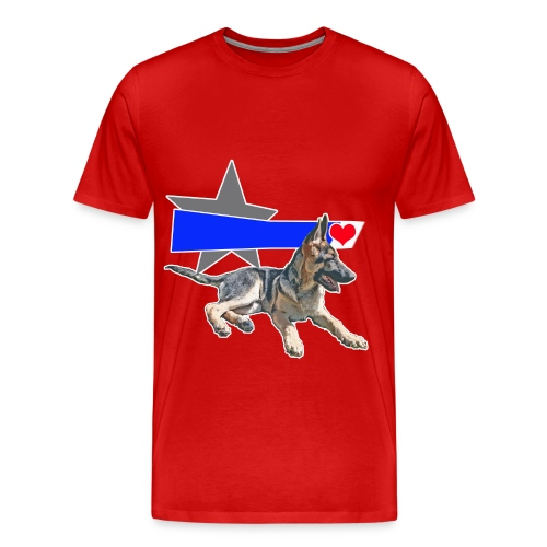 The Shepherd blue line - Men's Premium T-Shirt