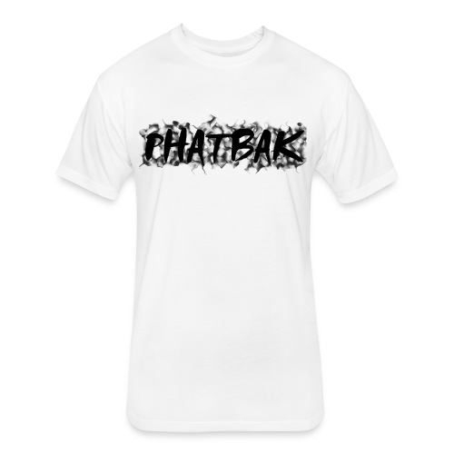White Phatbak T-shirt - Fitted Cotton/Poly T-Shirt by Next Level